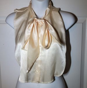 Vintage 1980's Bow Tie Top Layer Over Cold Back